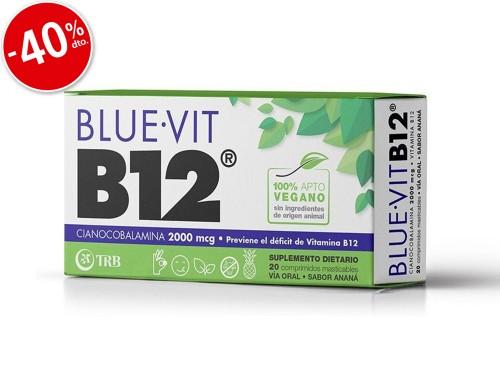 Blue-Vit B12 Sabor Anana Comprimido Masticable x20
