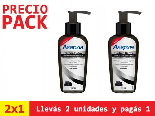 Jabón Liquido Asepxia Carbón x200ml