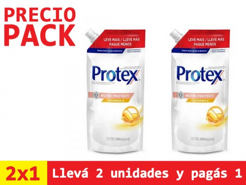 Jabón Liquido Antibacterial Protex Vitamina E Refill x500ml