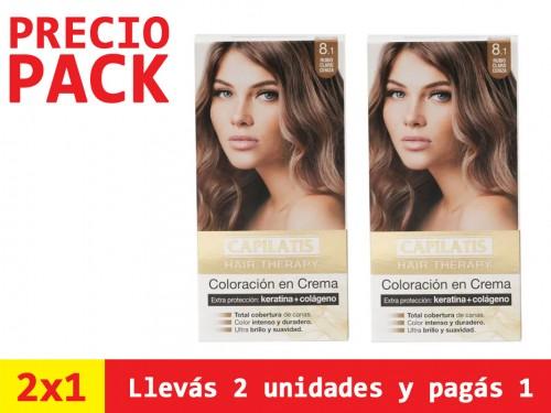 Coloración Capilatis Rubio Claro Ceniza 8.1