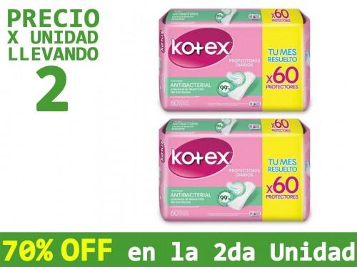 Protectores Diarios Kotex Antibacterial x60un
