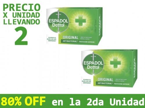 Jabón Antibacterial Espadol Original x80gr