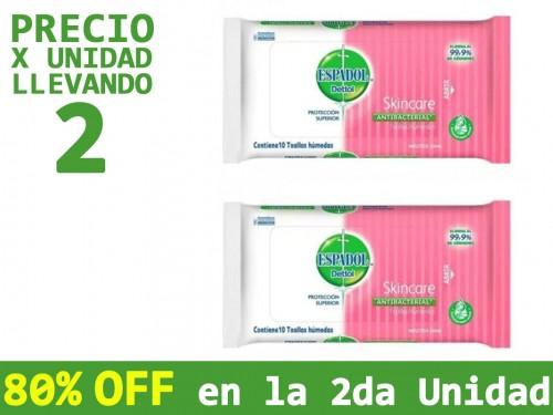 Toallas Húmedas Antibacterial Espadol Skincare x10un