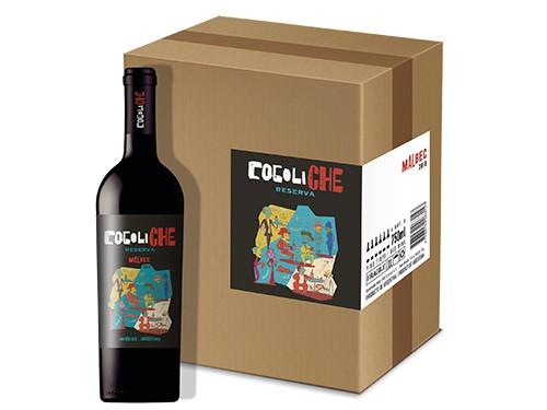 VINO TINTO COCOLICHE RESERVA MALBEC caja x 6