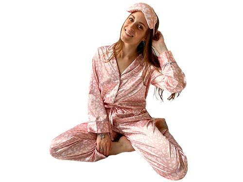 Pijama largo de satén
