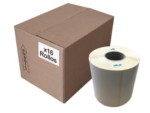 Rollos Ilustración 100x150mm Caja x16 Rollos 250 Etiquetas xRollo