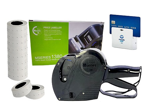 Etiquetadora de Precios + 10 Rollos Blanco + Regalo Point Bluetooth