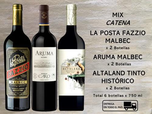 Mix CATENA: 2 Tinto Histórico, 2 Fazzio Malbec, 2 Aruma Malbec