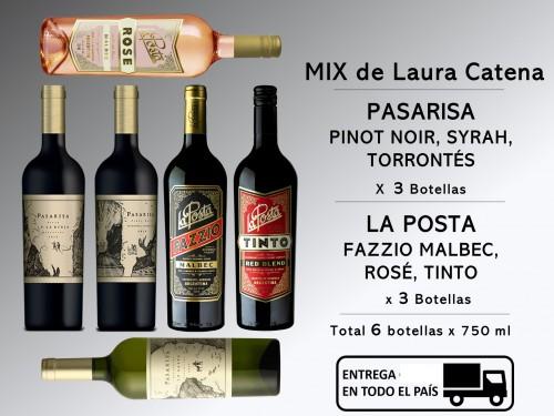 3 Pasarisa  Syrah, Torrontés, P Noir y 3 La Posta: Rosé, Malbec, Tinto