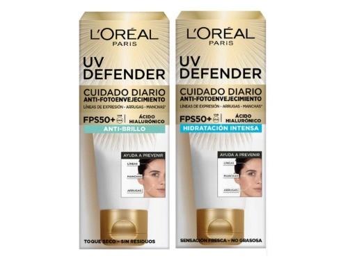 Crema Facial Uv Defender Hidratante + Antibrillo Loreal