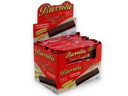Barrita Chocolate Diabfort Felfort. Caja con 30u de 16g.