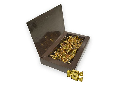 Box Oro. Caja rellena de bombones de praline x 180 g.