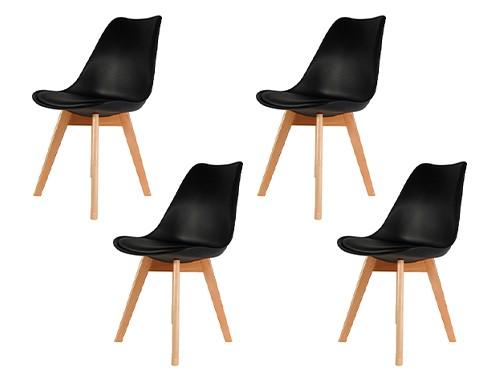 Silla Tulip Eames Nordica Moderna Comedor Cocina x4