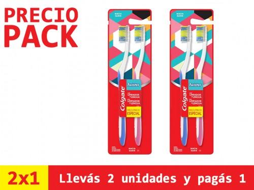 Cepillo Dental Colgate Twister Cabeza Compacta 2x1 x2un