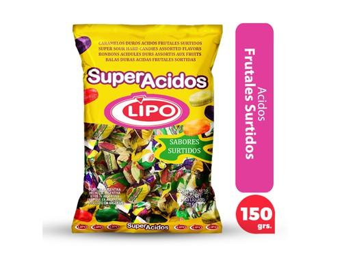 Lipo Caramelos Ácidos Frutales Surtidos   150.0g x1