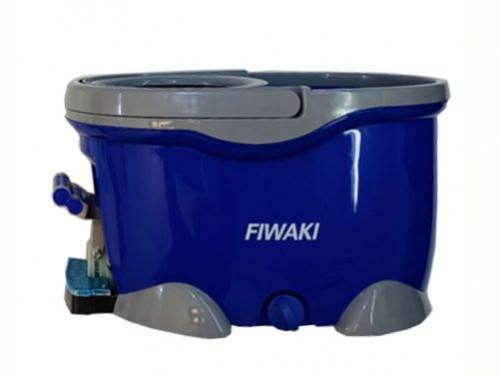 Limpiador Escurridor Balde Con Pedal Fiwaki + 2 Paños