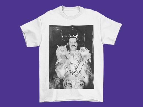 Remera Freddie Mercury Gatos Sublimación Unisex