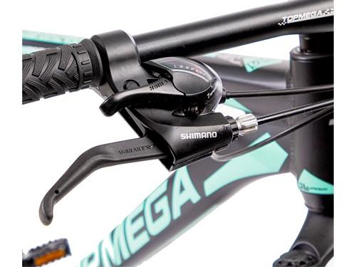 Bicicleta MTB Sunshine R29 Talle M 21v Shimano Negro/Celeste Top Mega