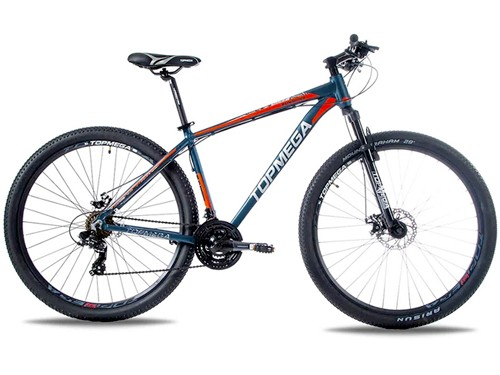 Bicicleta MTB Sunshine R29 Talle M 21v Shimano Azul/Rojo Top Mega