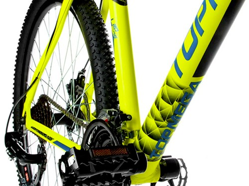 Bicicleta MTB Neptune R26 Talle M 21v Shimano Amarillo Top Mega