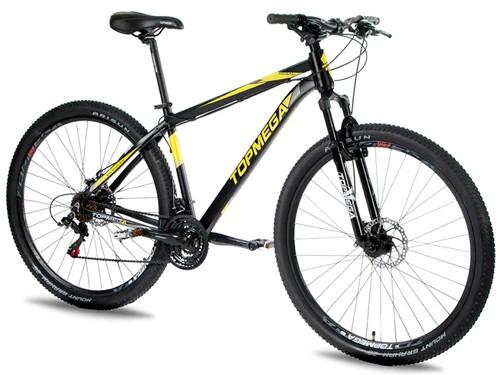 Bicicleta MTB Regal Aluminio R29 Talle L Negra/Amarilla Top Mega