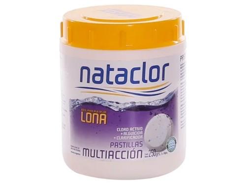 Pastillas de Cloro Multiacción Piletas de Lona 1/4 kilo Nataclor