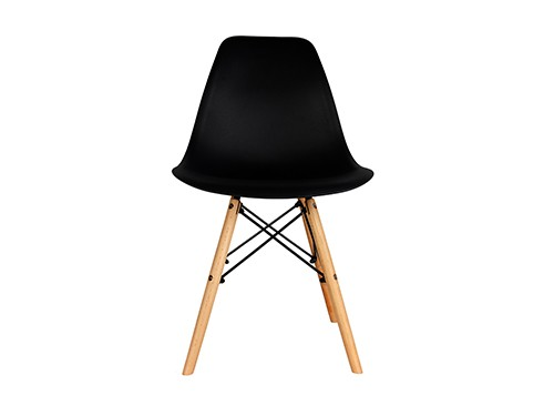 Silla Eames Negra Nordica Moderna de Comedor 1 Unidad Home Kong