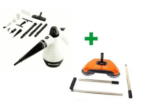 Limpiador A Vapor Vp105k + Barredora Manual Kushiro