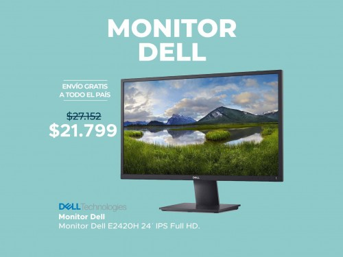 "Monitor Dell 24"" Full HD Display Port"