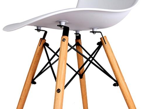 Sillas Eames Blancas Nordicas Modernas de Comedor 4 Unidades Home Kong