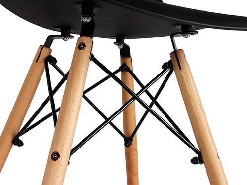 Sillas Eames Negras Nordicas Modernas de Comedor 4 Unidades Home Kong