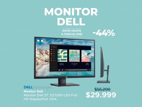 "Monitor Dell 27"" Full HD Display Port VGA"
