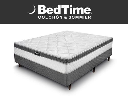 Sommier y Colchon Vibrant 2 Plazas 140x190 BedTime