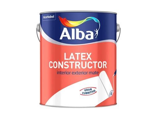 Pintura Latex Alba Constructor Interior / Exterior 10 Lts