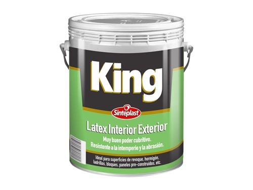 Pintura Látex Interior Exterior King Blanco 10 Litros