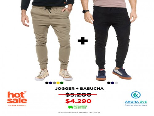 Pack Jogger + Babucha VINSON