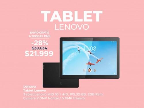 Tablet Lenovo M10 10.1 HD, IPS, 32GB, 2GB RAM, Cámara 2MP Fr | 5MP Tr
