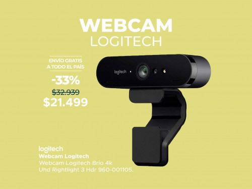 Webcam Logitech Brio 4K Ultra HD Rightlight 3 HDR