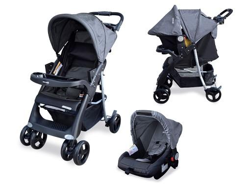 Coche Cuna Bebe Travel System Mega Baby Con Huevito Copahue