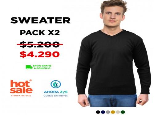 Sweater Escote V 2x1 VINSON