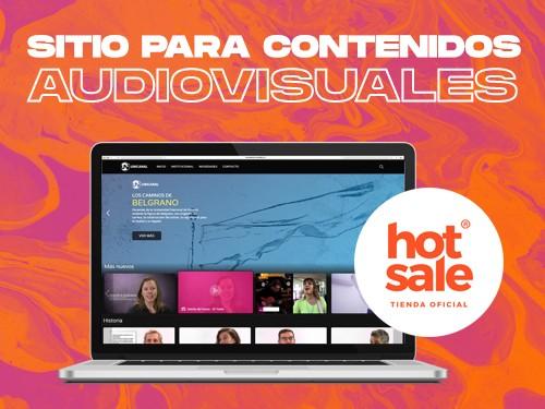 Sitio web para contenidos Audiovisuales