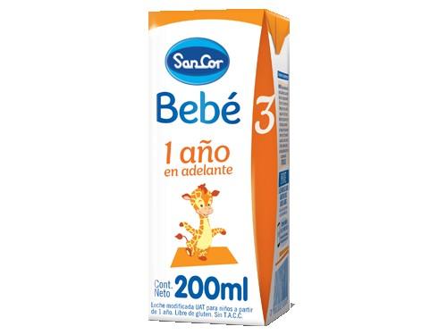 Leche Infantil Líquida SanCor Bebé Etapa 3, 200 ml