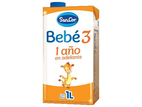 Leche Infantil Líquida SanCor Bebé Etapa 3, 1L
