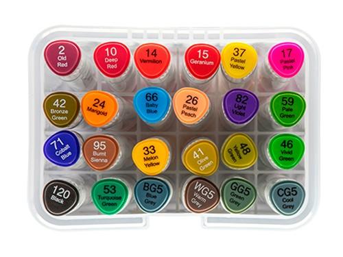 Marcador Artistico Dual Marker Pro Evoke x24 colores BRW
