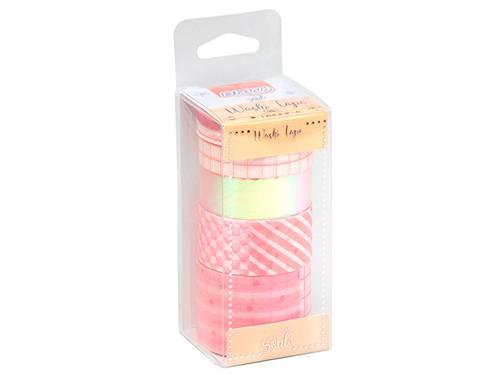 Washi Tape Candy Blister x6 unidades Diferentes Tamaños BRW