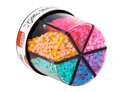 Glitter Shaker pote x60gs x6 colores