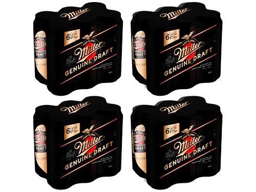 Cerveza Pack Miller 473cc x 24