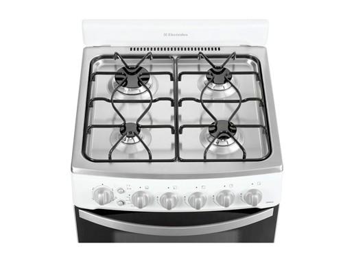 Cocina Blanca 56cm Autolimpiante Timer Multigas Electrolux