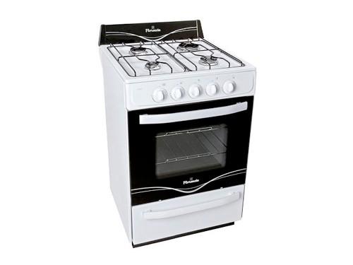 Cocina Blanca 56cm 4 Hornallas Fácil limpieza Florencia
