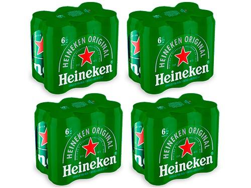 Cerveza Pack Heineken lata 473cc x 24